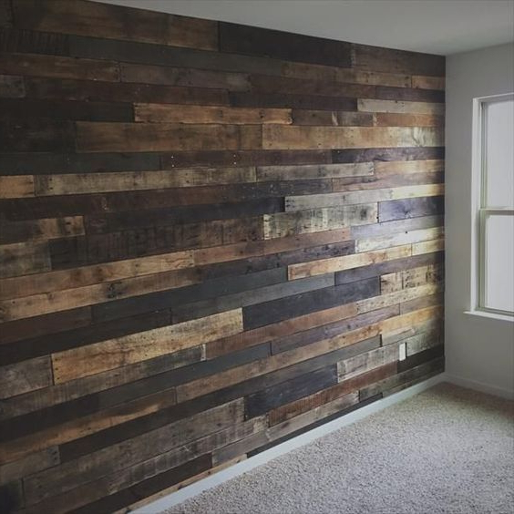 Amazing And Easy To Do Wood Walls Ideas Diy Wood Wall Diy Pallet Furniture Home Decor