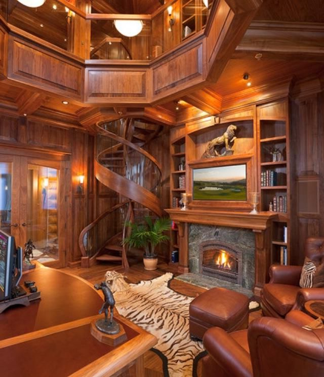 Amazing Home Office Staircase Design Log Homes House