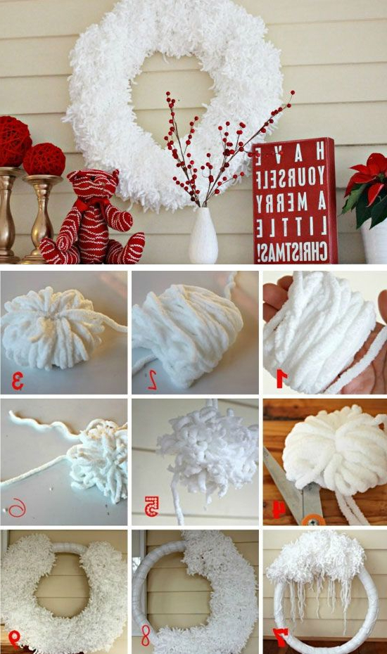 Anthropologie Inspired Wool Wreath Click For 25 Diy W