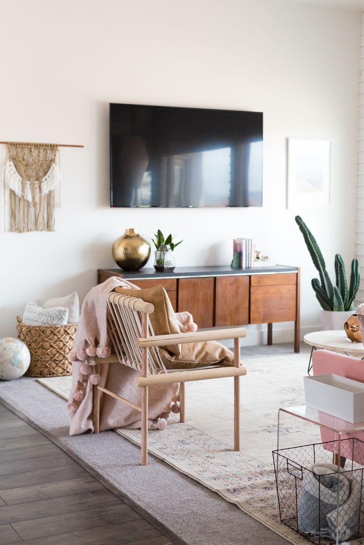 Aspyns Living Room Makeover Reveal Boho Living Room