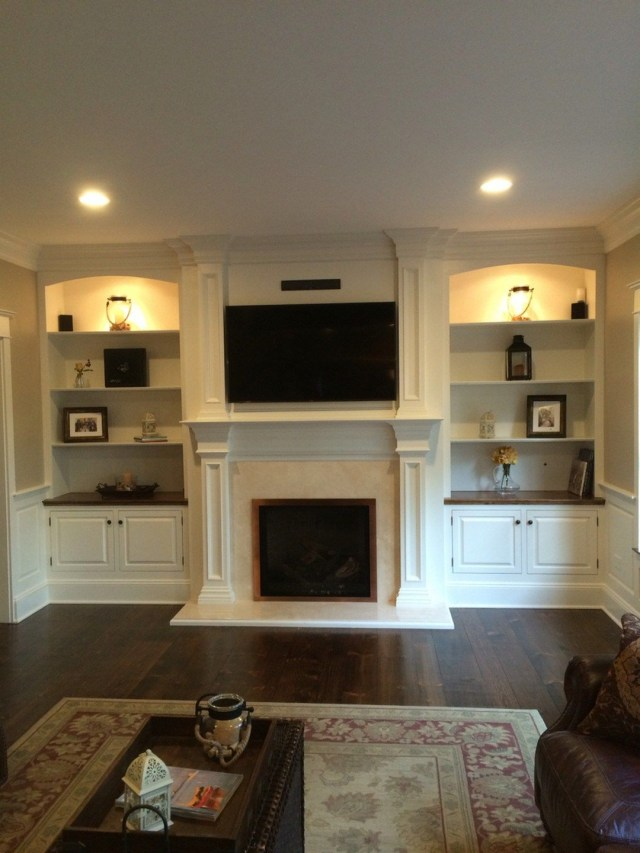 Awesome Built In Cabinets Around Fireplace Design Ideas 4