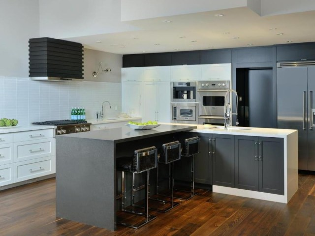 Awesome L Shaped Kitchen Designs With Contemporary Kitchen