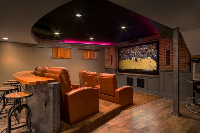 Awesome Man Cave Bedroom Ideas For Basement Traditional