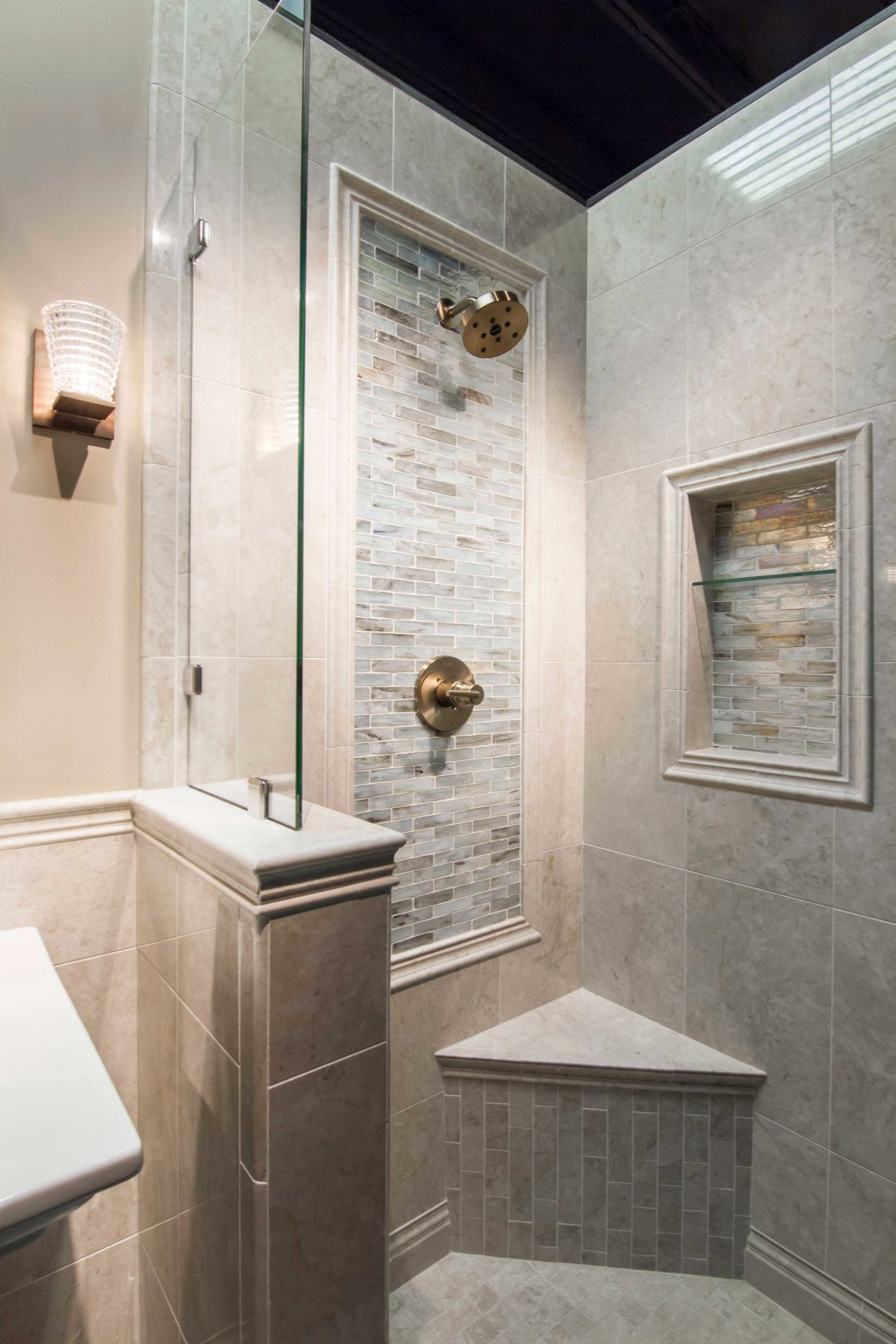 Bathroom Shower Backsplash Focal Point Tile Inglewood