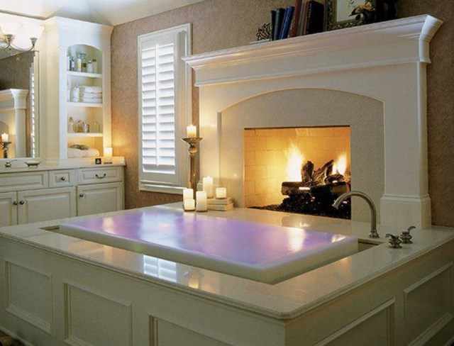 Bathrooms With Fireplaces Amazing Bathroom With
