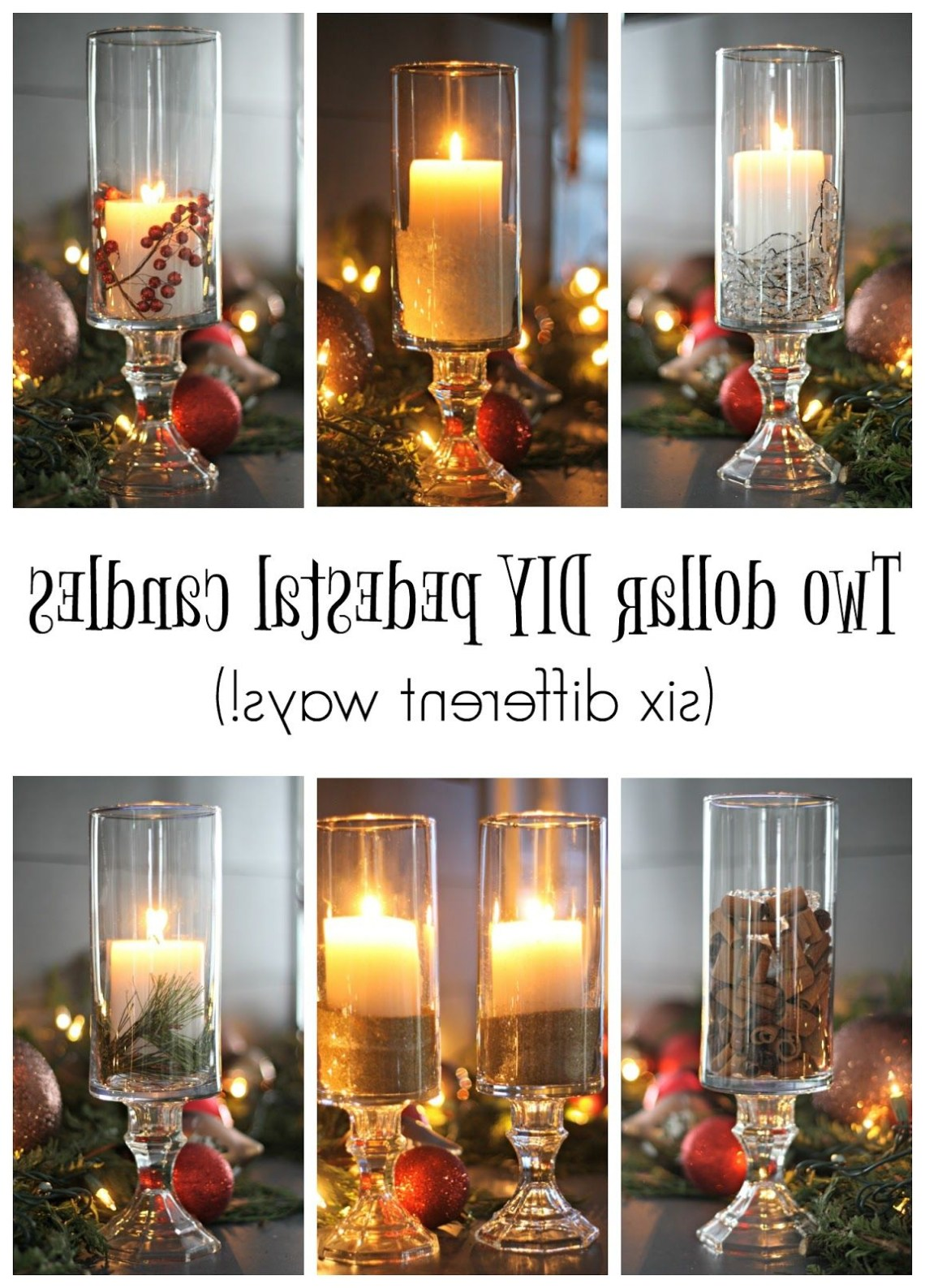 Beautiful Diy Pedestal Candles Using Dollar Store Items
