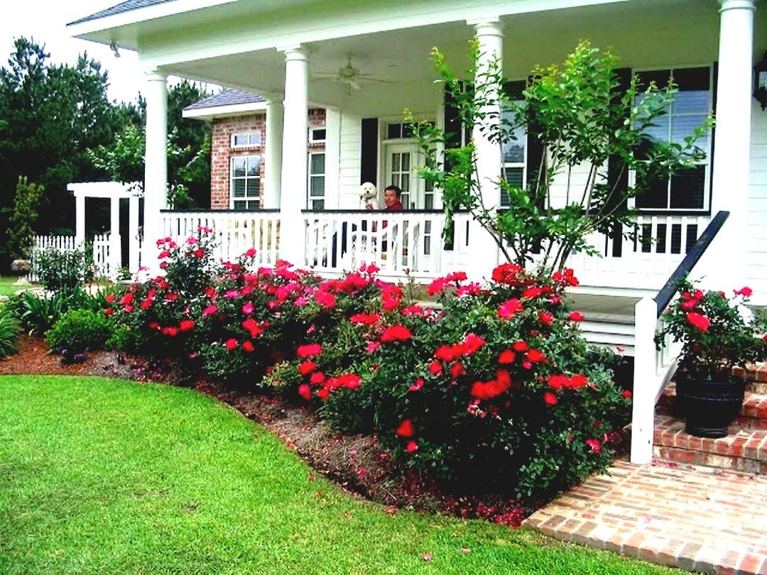 Beautiful Flower Beds In Front Of House Design Ideas