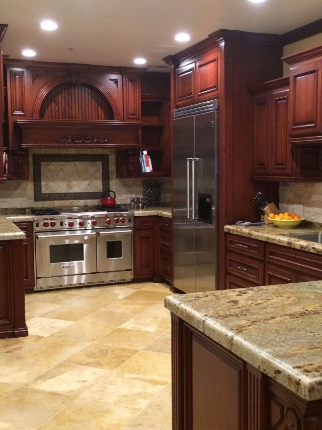 Beautiful Kitchen Cabinet Color Especially Coupled With The Light Colored What Looks Like