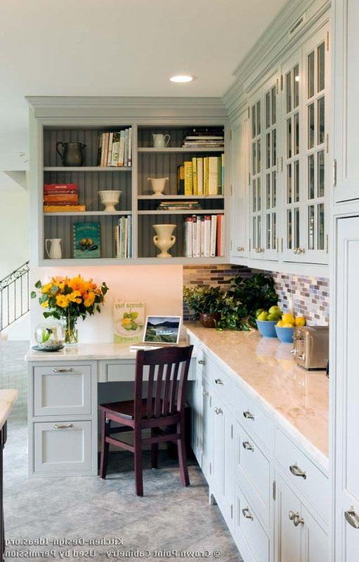 Beautiful Kitchen Desk Transitional Kitchen Design With
