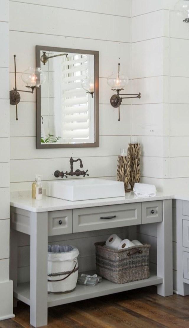 Beautiful Shiplap Bathroom Bathroom Vanity Remodel