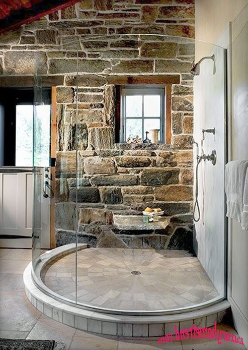 Beautiful Shower Idea With Natural Stone House Styles