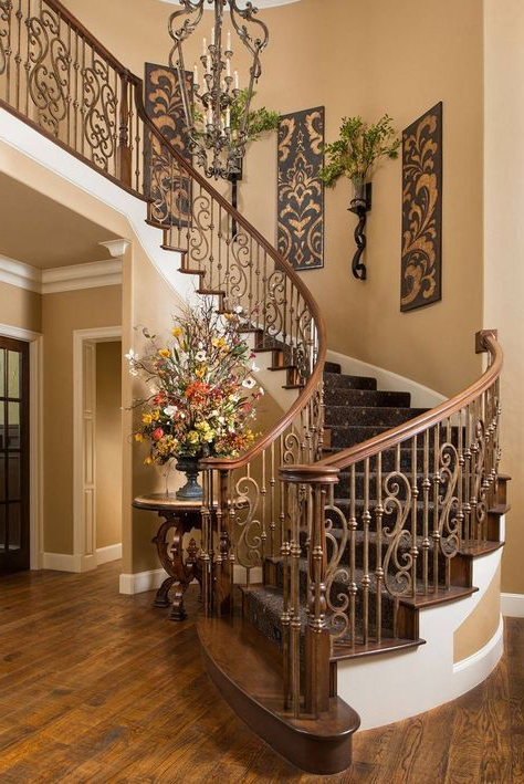 Beautiful Tuscan Staircase Wesley Wayne Interiors B