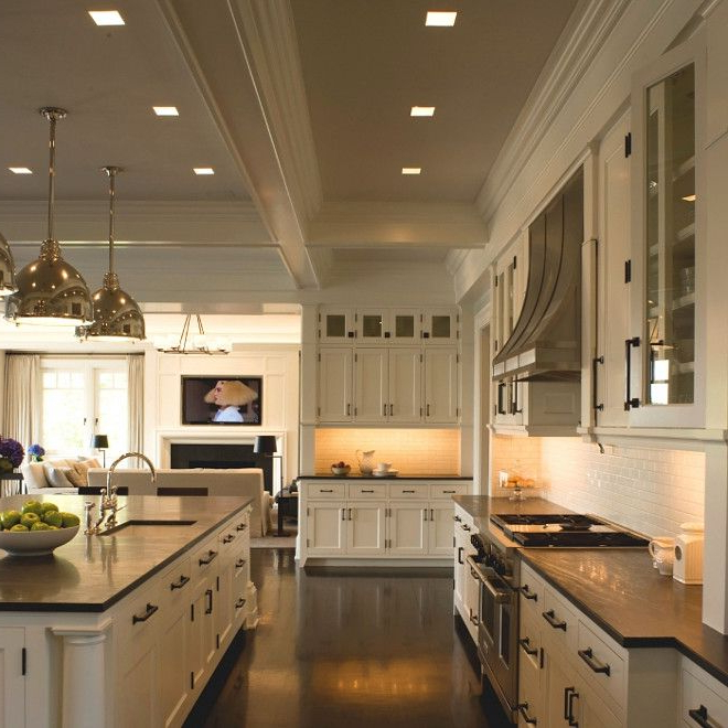 Benjamin Moore White Dove Classic Hamptons Kitchen Painted