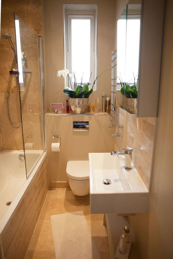 Best 50 Small Bathroom For Small Space Designs Colors And Tile Ideas 1 Small Bathroom Tiny