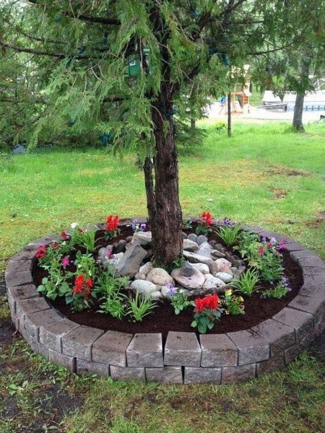 Best And Beautiful Tree Ring Planter Ideas Landscaping