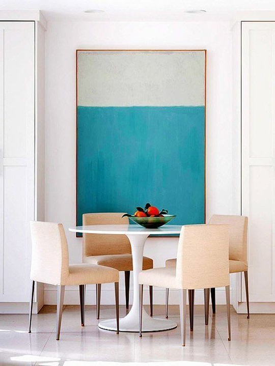 Big Appetite 20 Dining Rooms With Large Scale Art Large