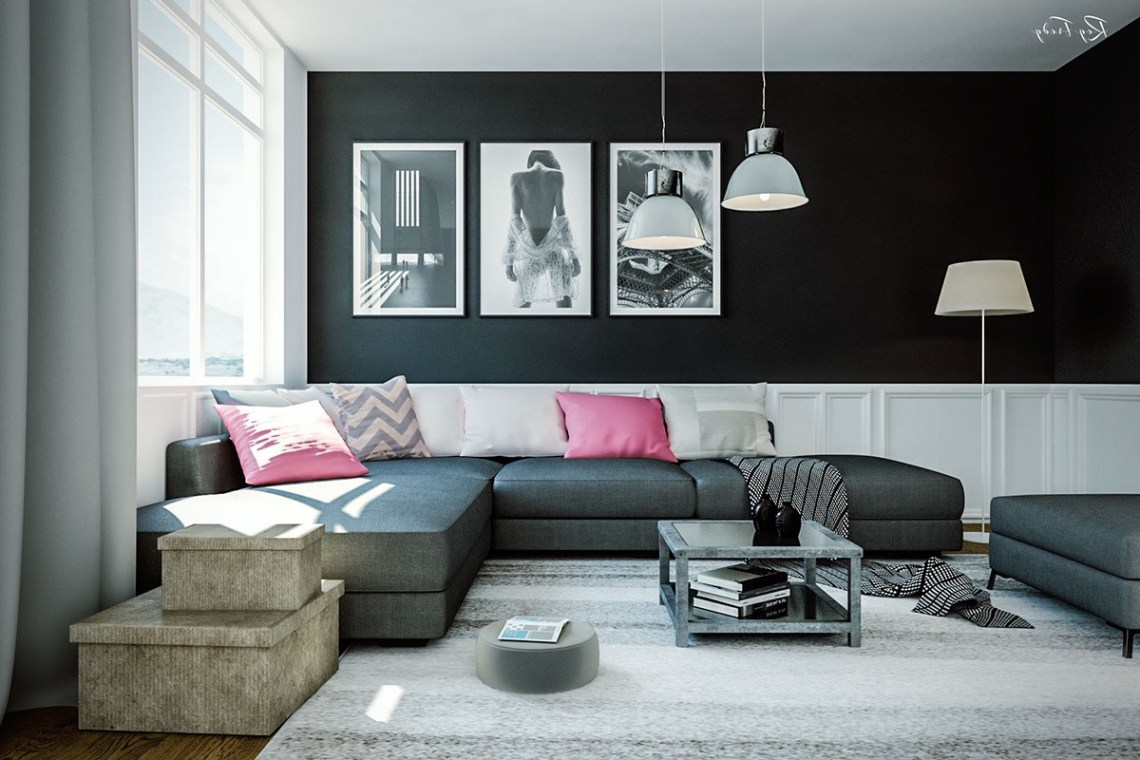 Black Color Show An Exotic Living Room Decorating Ideas