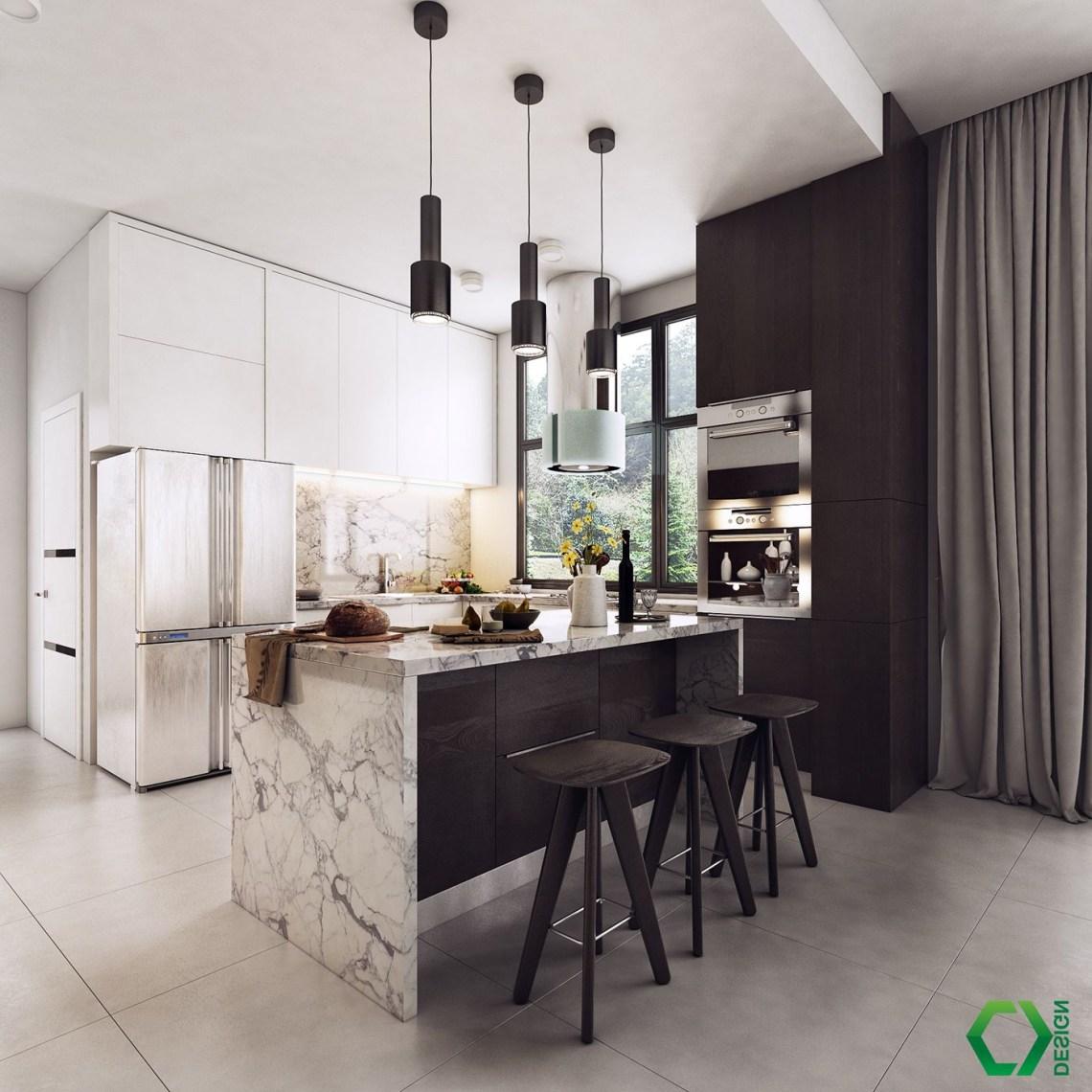 Black On Behance Luxury Kitchen Design Trendy