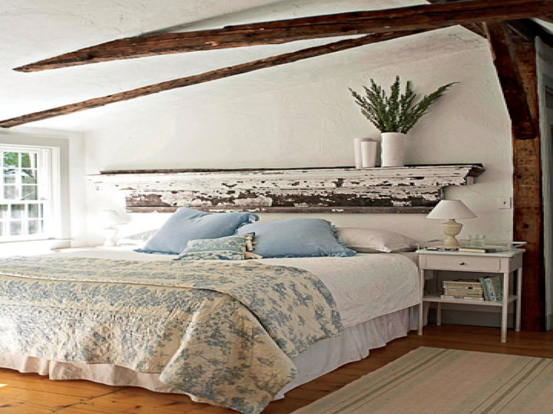 Blue And Brown Bedrooms Diy Rustic Headboard Ideas Rustic