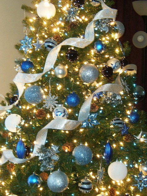 Blue White And Silver Christmas Tree Home Ideashome