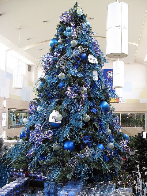 Books And Life Blue And Silver Christmas Trees And