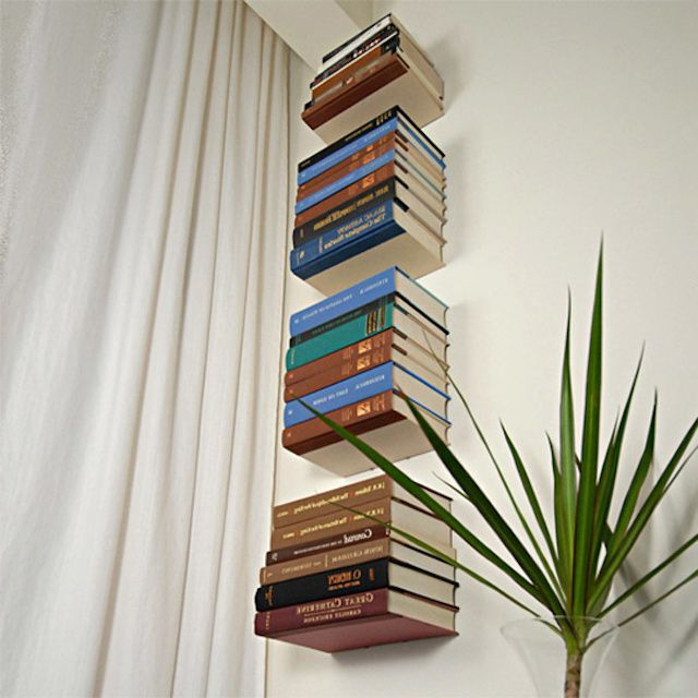 Bookshelves With Minimalist Design Conceal Book Shelf