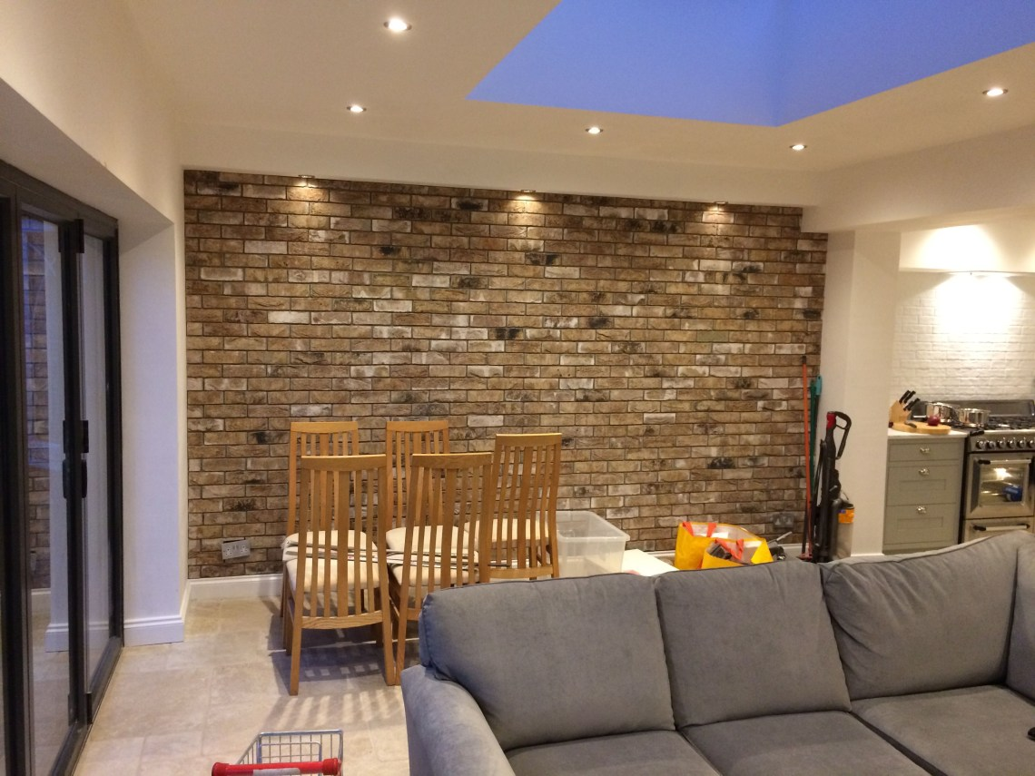 Brick Slip Internal Wall Brick Wall Living Room Brick Feature Wall Brick Wall Kitchen