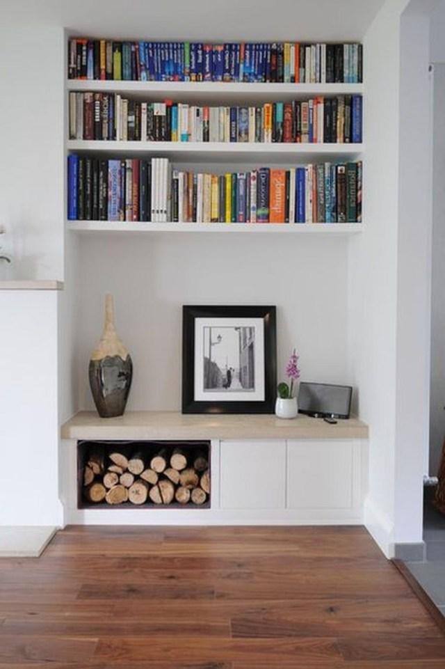 Brilliant Built In Shelves Ideas For Living Room 25