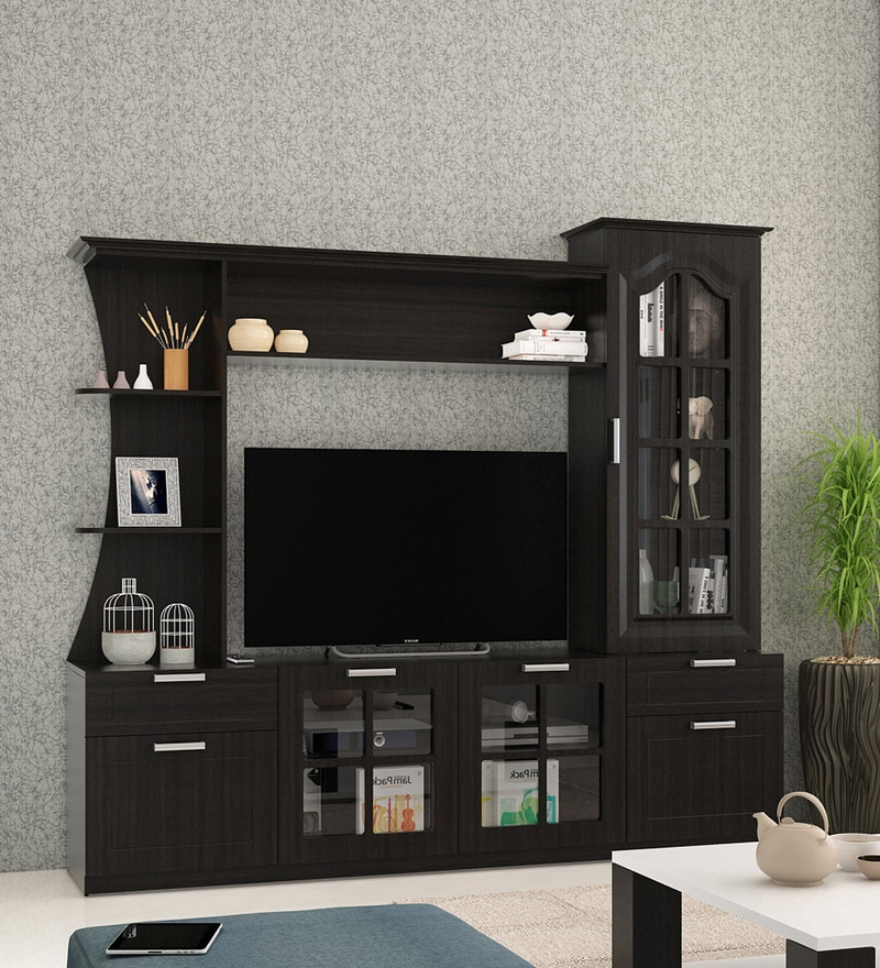 Buy Kosmo Madarin Tv Unit In Natural Wenge Melamine Finish