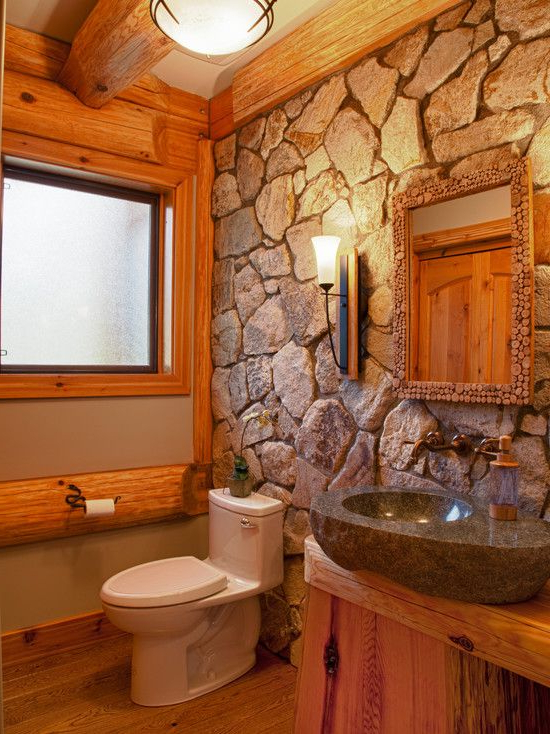 Cabin Style Decorating Ideas Rustic Bathroom Lighting