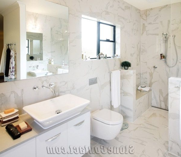 Calacatta Gold White Marble Cut To Size Tile Wall Cladding