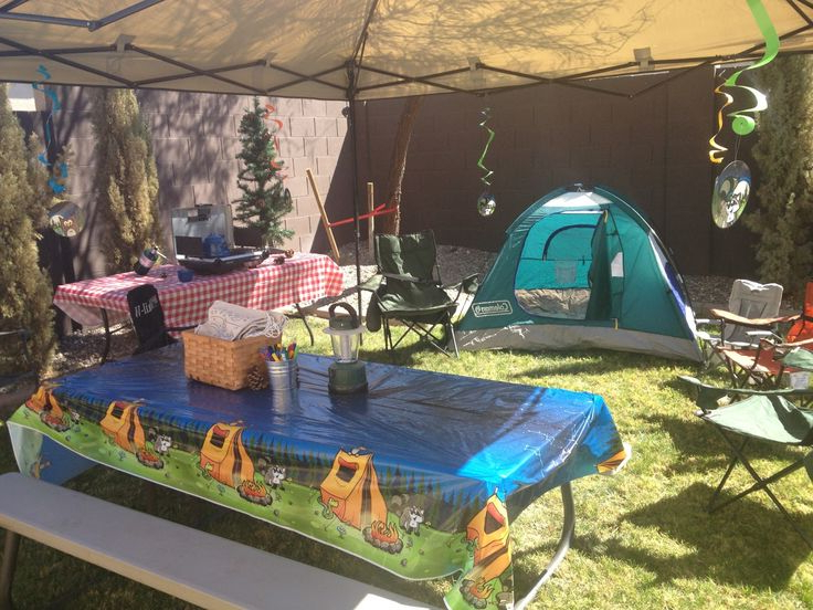 Camping Themed Birthday Party Decorations Camping