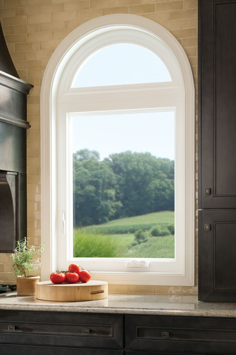Casement Window With Radius Top Tuscany Series Vinyl