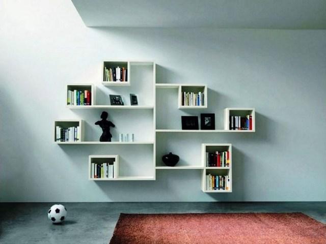 Charming 25 Modern Shelves Design Ideas For Living Room