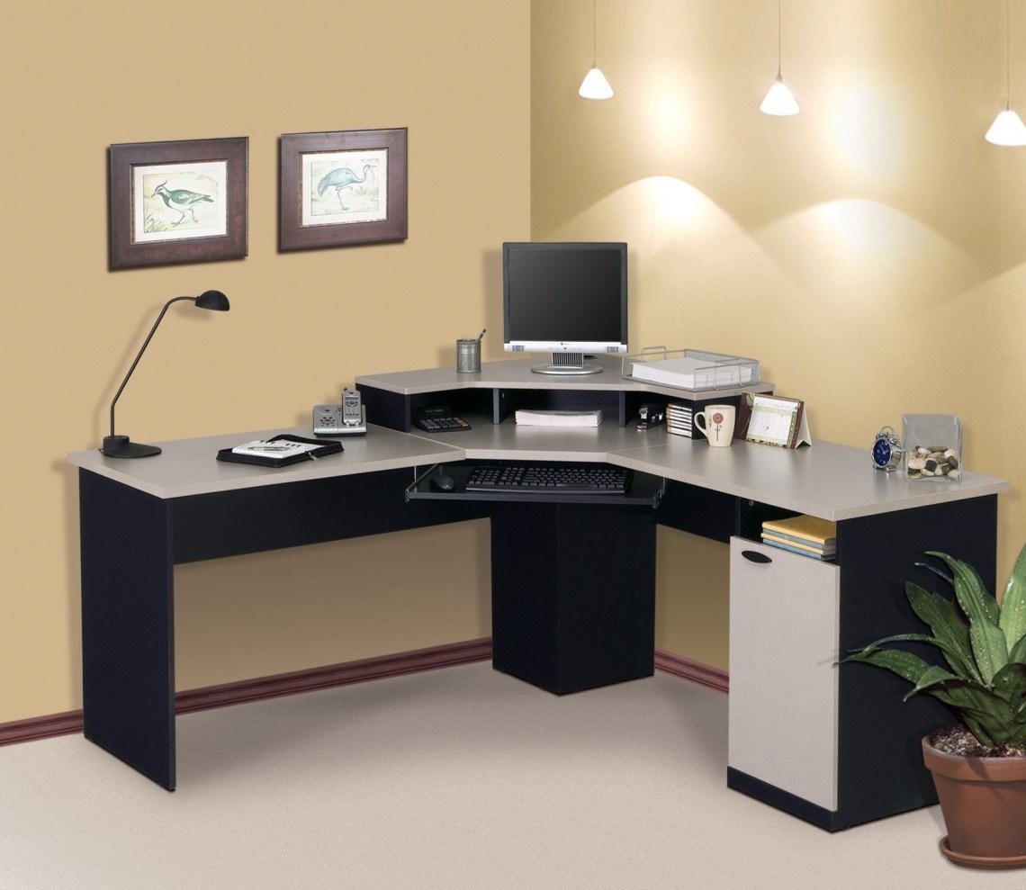 Charming Corner Computer Desk With Black Computer Desk L