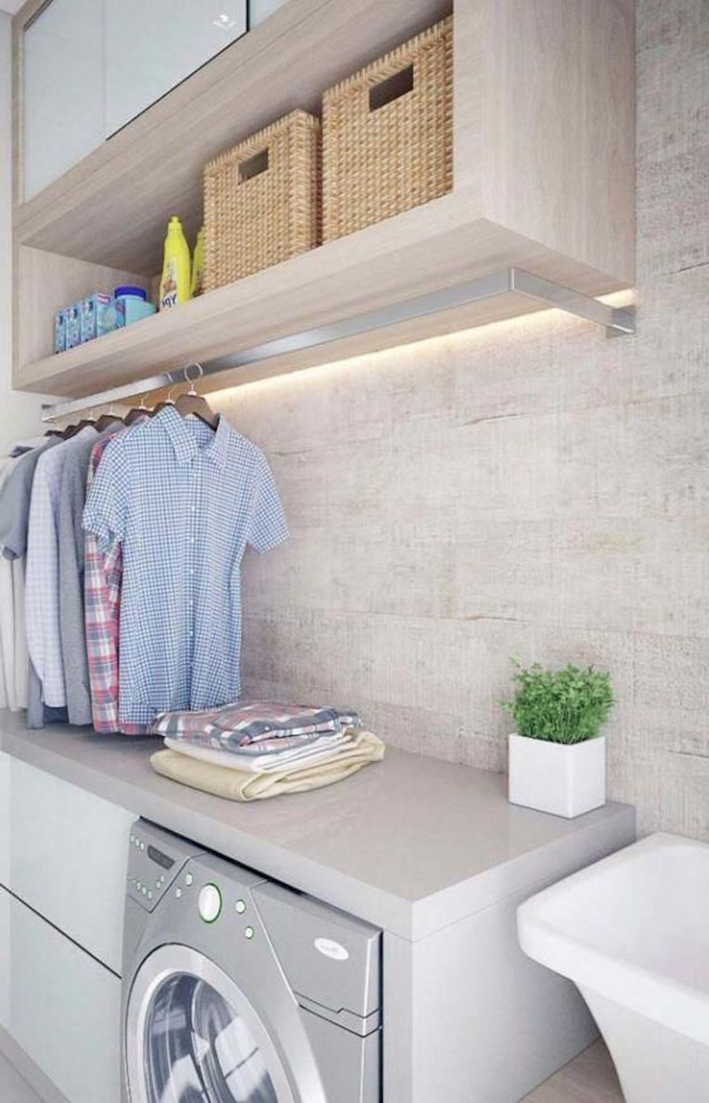 Classy Laundry Room Update Showing Off Minimalist Modern