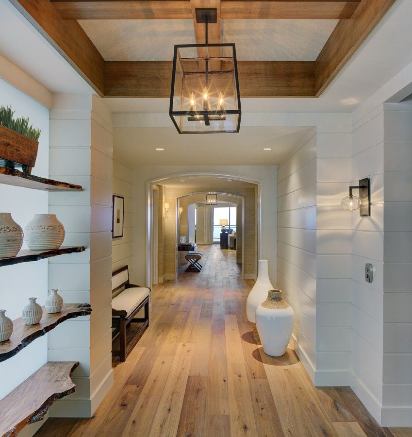 Color Theme White With Raw Wood Accents Wood Beams Wood