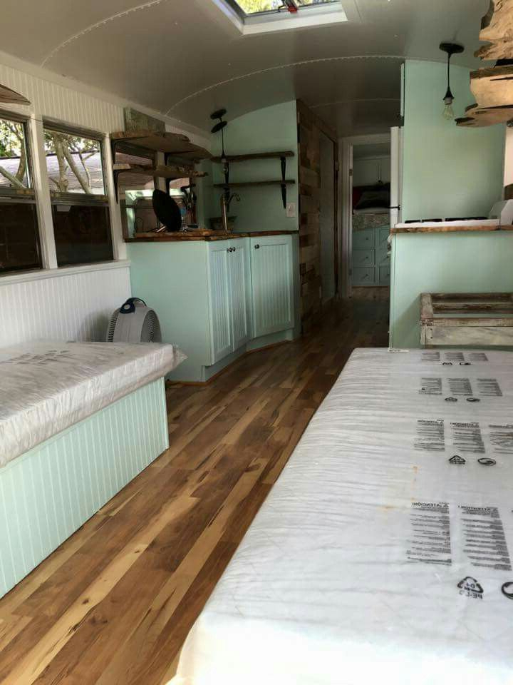 Converted Bus Moving Dreams School Bus Camper