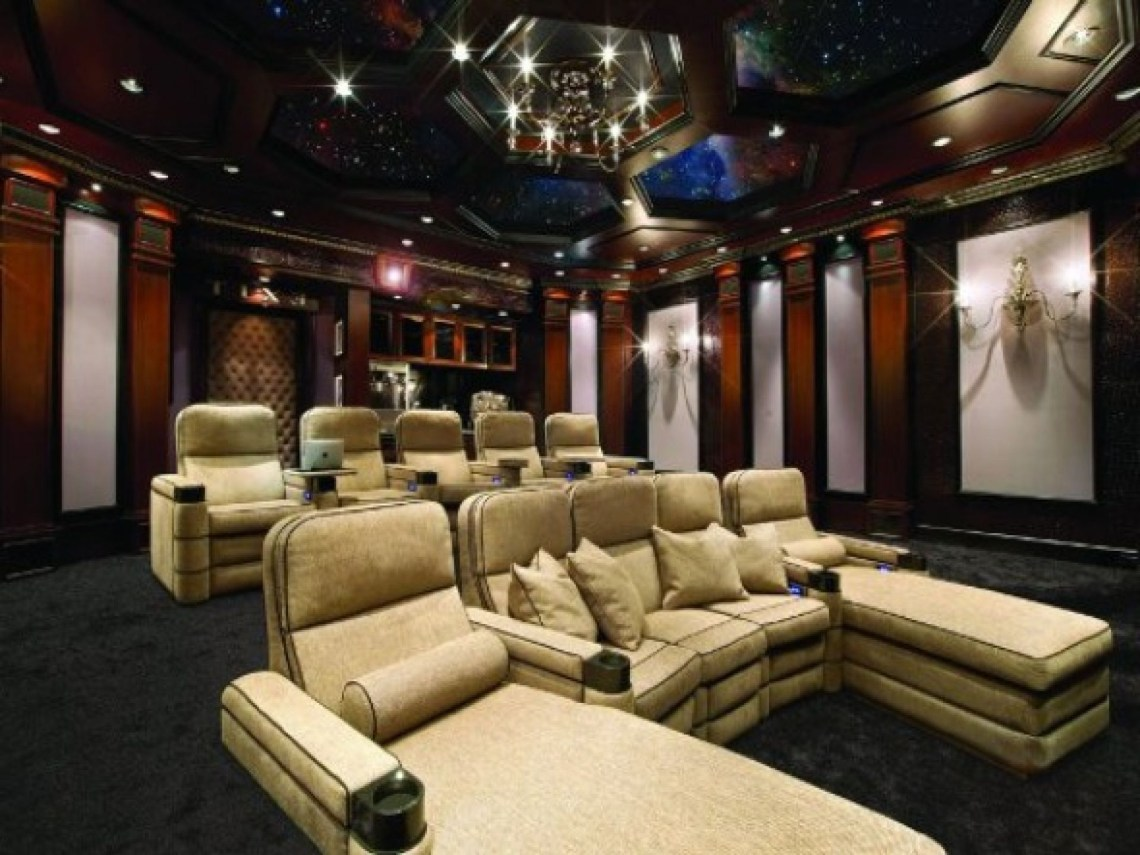 Cool Home Theater Design Ideasendearing Luxury Home