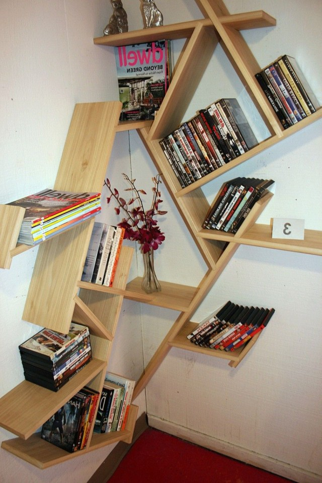 Corner Bookshelf The Concept To Economize A Space