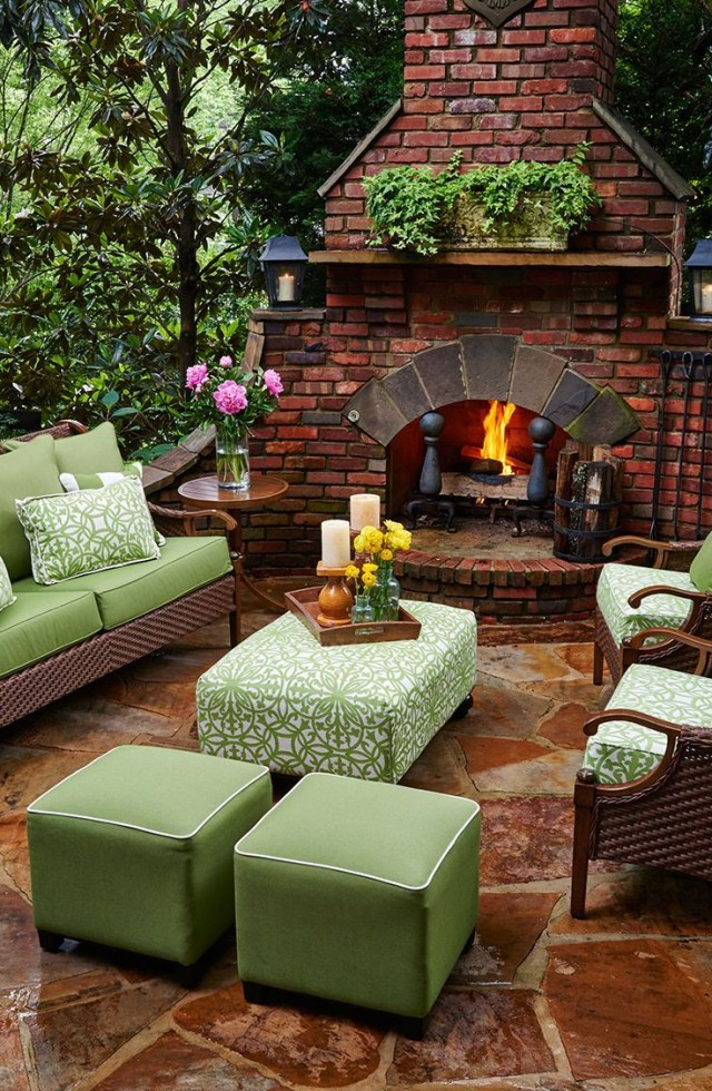 Cozy Outdoor Space Ottomans And Poufs Are A Great Way