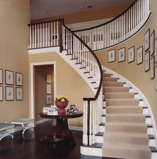 Curved Staircases Are Cool The Only Reason I Would Ever Want A 2 Storey Staircase Decor