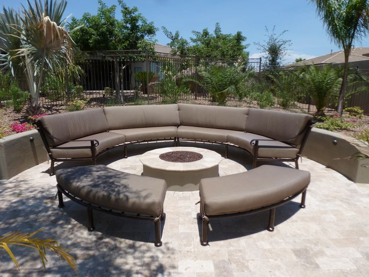 Custom Curved Outdoor Furniture Sectional Sunbrella