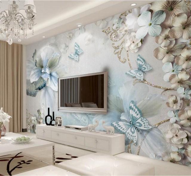 Custom Mural Wallpaper For Bedroom Walls 3d Beautiful