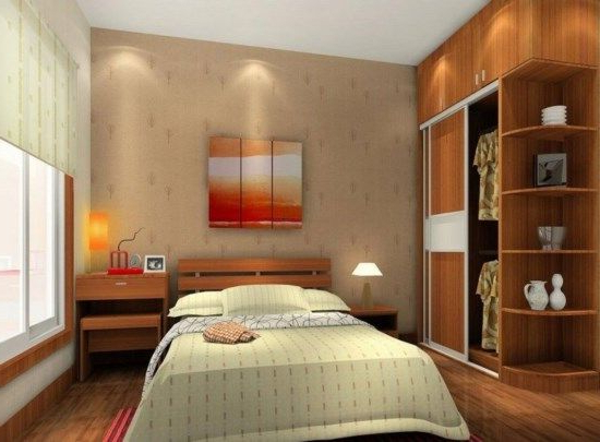 Design Of Small Size Main Bedrooms With Minimalist