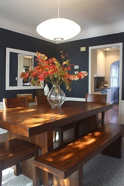 Dining Room Color Inspiration Benjamin Moore Hale Navy