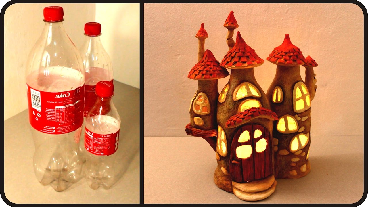 Diy Fairy House Lamp Using Coke Plastic Bottles Viral