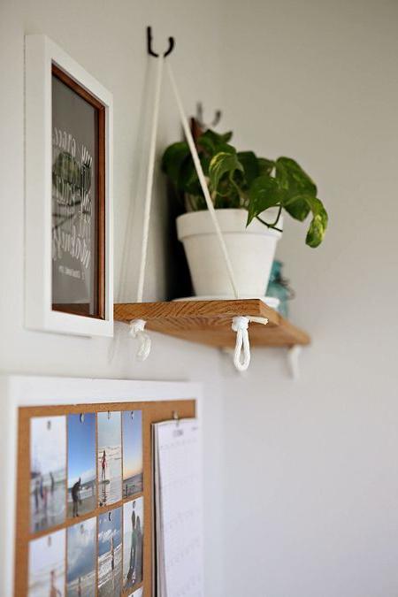 Diy Hanging Shelf V2 Diy Hanging Shelves Plant