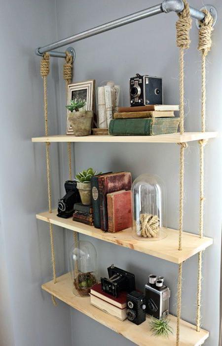 Diy Hanging Shelves From Ceiling Diy Wood Shelves Diy