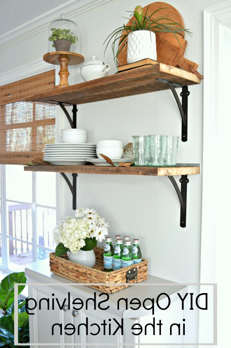Diy Kitchen Open Shelving For Under 50 Rustic Kitchen